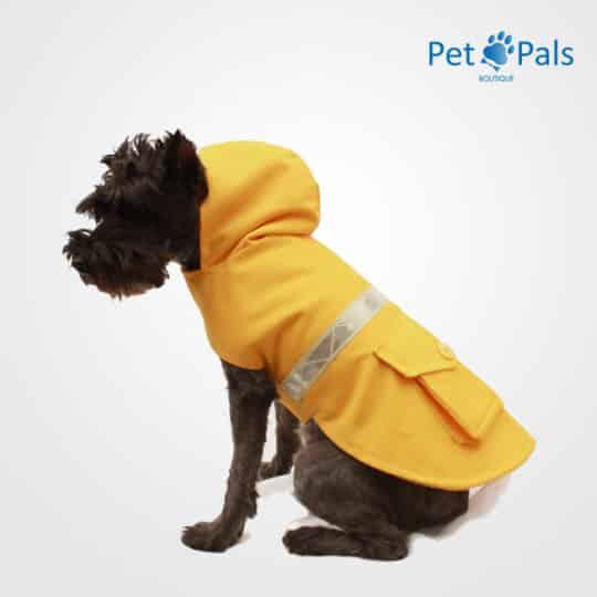 Impermeable amarillo con reflejante para perro