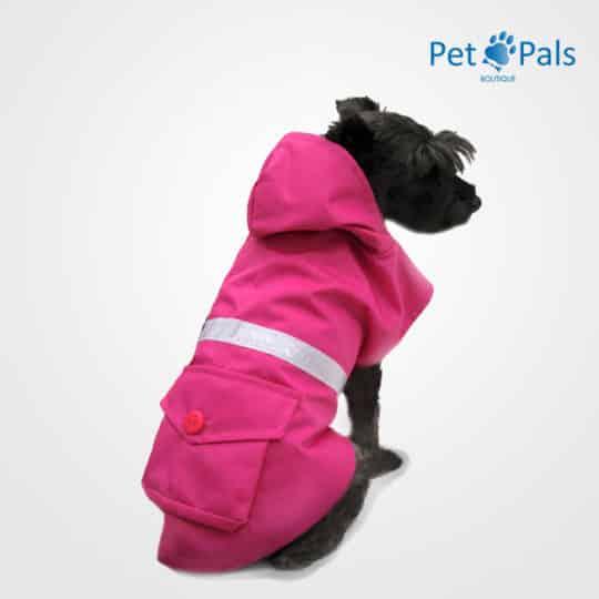 Impermeable rosa con reflejante para perro