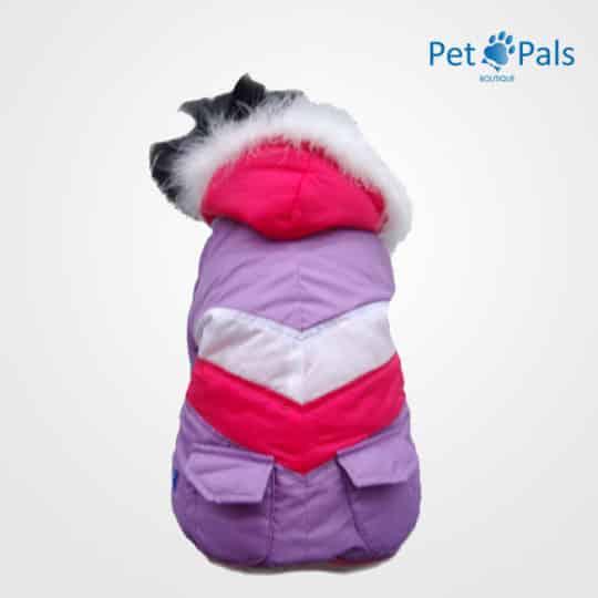 Chamarra Esquimal lila para perro pet pals boutique
