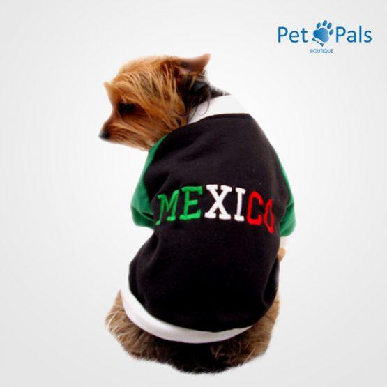 Chamarra Mexico Negra verde espalda