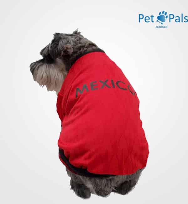 Playera México roja espalda 2014 para perros