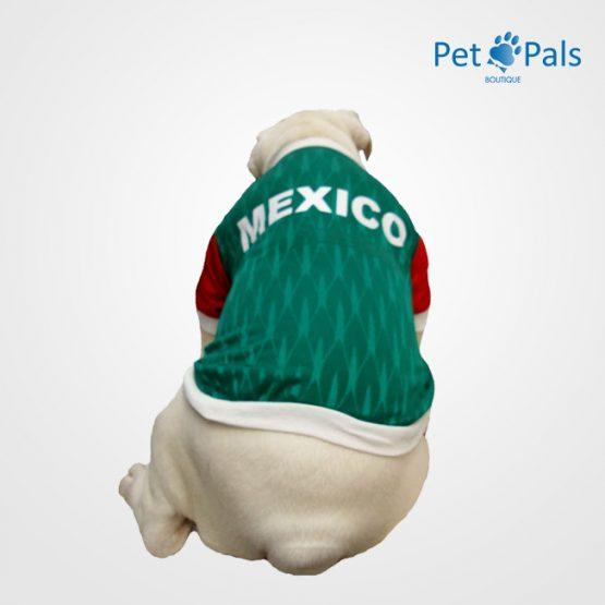 Playera México verde espalda