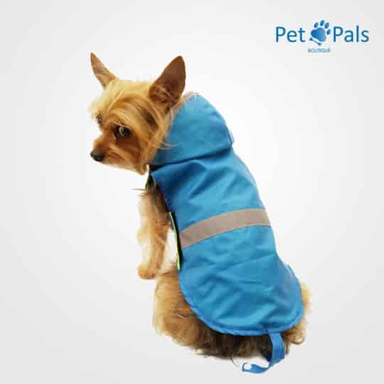 Raincoat azul impermeable para perro