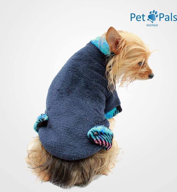 Suéter para perro cariño azul