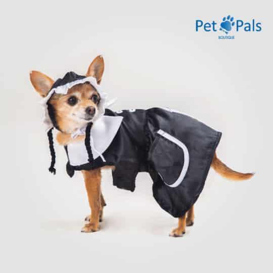 Disfraz de Merlina para perro