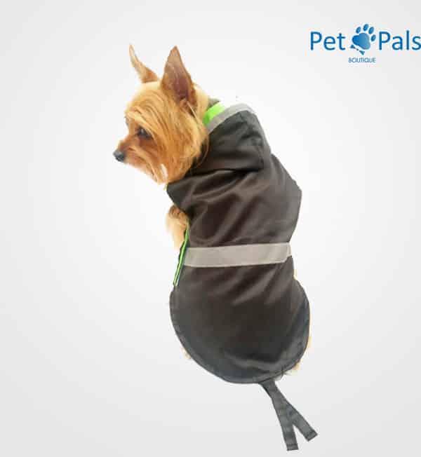Raincoat negro impermeable para perro