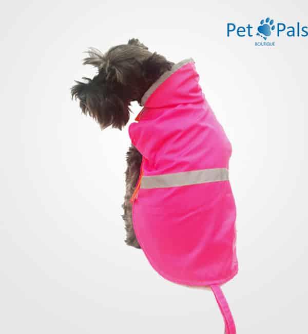 Raincoat rosa impermeable para perro