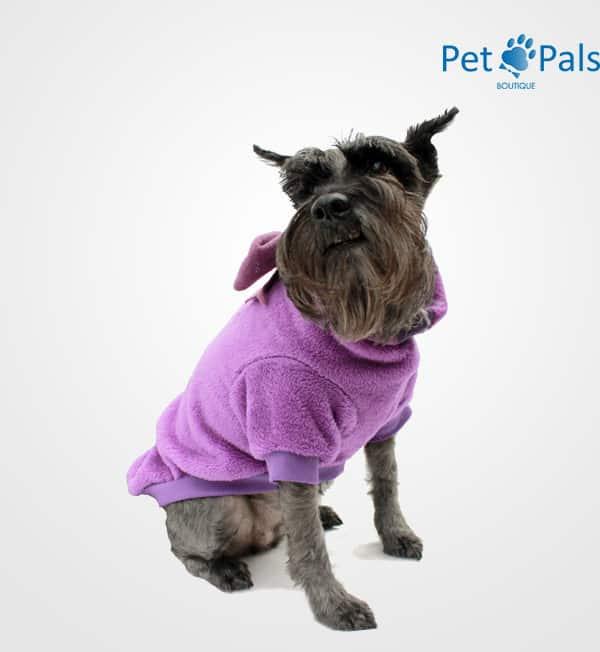 Suéter para perro morado cariño