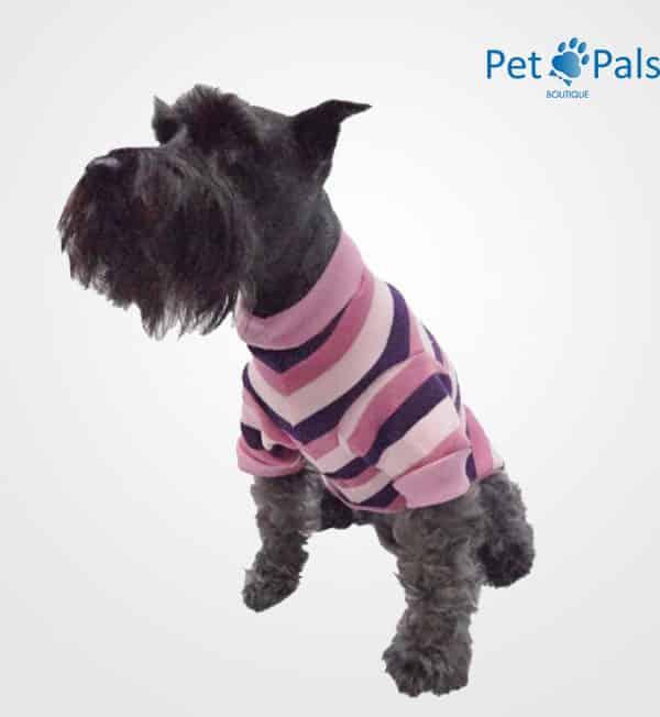 Suéter tejido rosa para perro