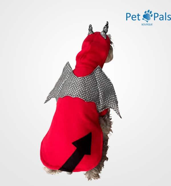 Disfraz de diablo para perro espalda