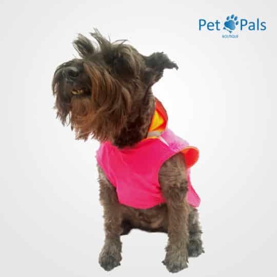 Raincoat rosa impermeable para perro frente
