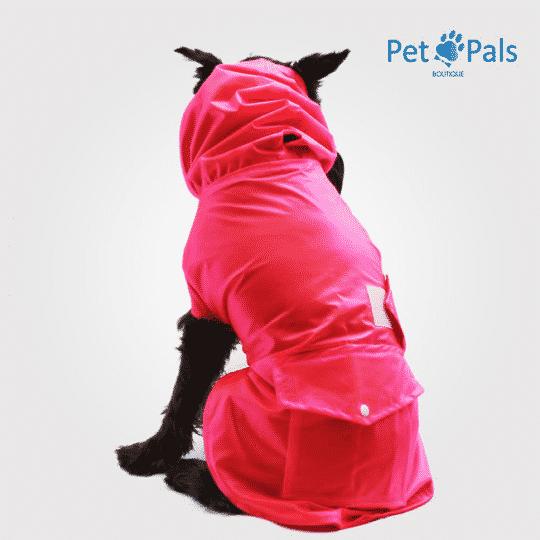 Rainy coat impermeable para perro rosa