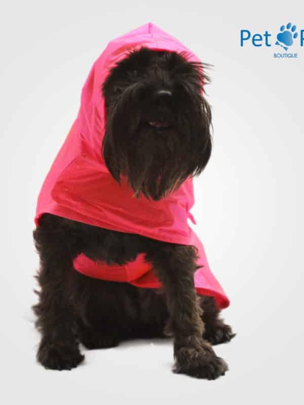 Rainy coat impermeable para perro rosa frente