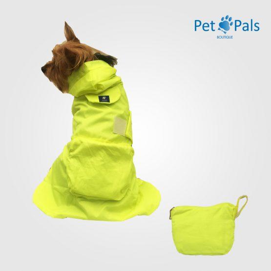 Impermeable para perro - tortuga neón Pet Pals Boutique