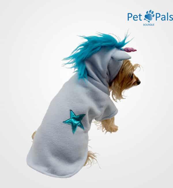 Disfraz de unicornio azul pet pals