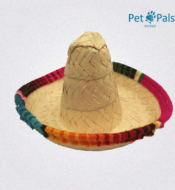 Sombrero mexicano para perro mediano