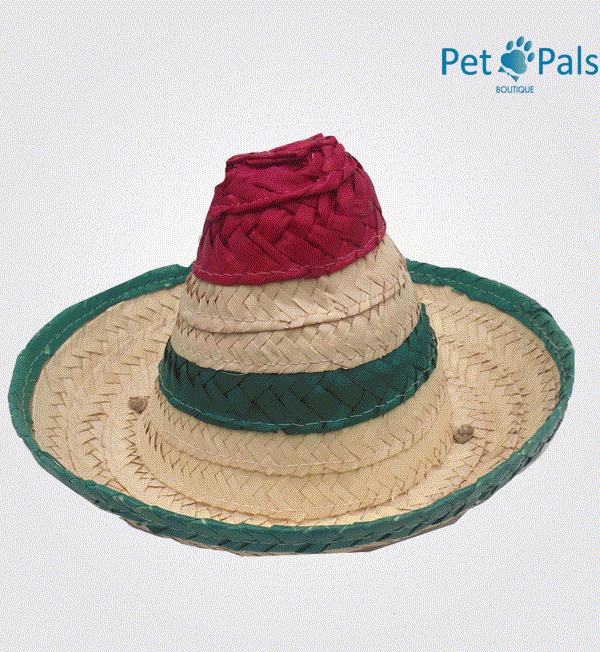 Sombrero mexicano para perro grande