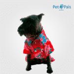 Camisa Hawaiana roja para perro