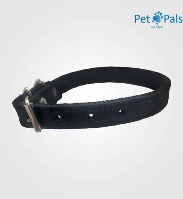 Collar para perro de cuero negro