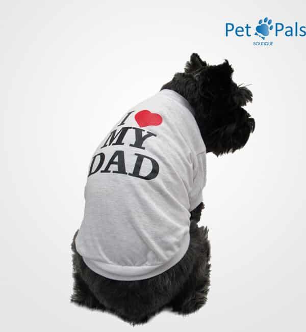 Playera I love my dad para perro