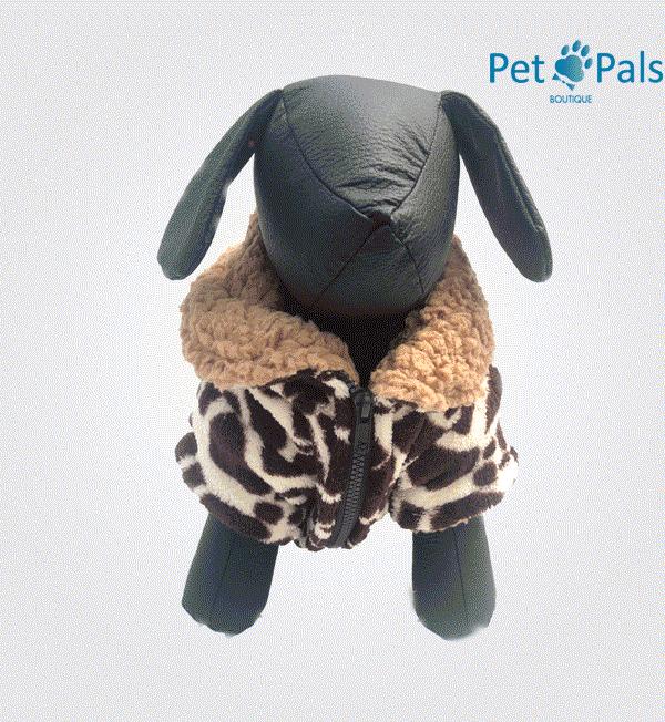 Chamarra de jirafa para perro