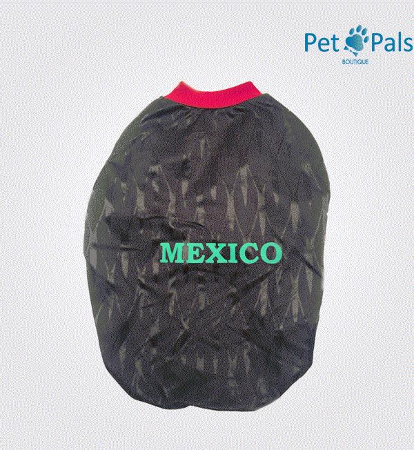 Playera México negra espalda