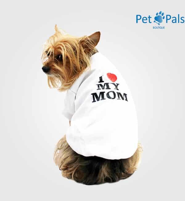 Playera I love my mom estampada