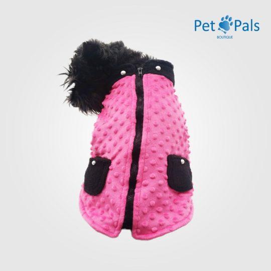 Chaleco para perro rosa fru fru